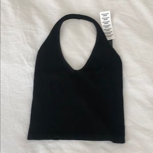 Urban Outfitters tight black halter top